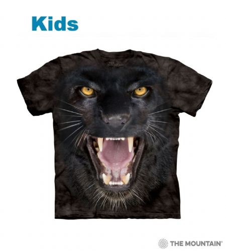 Aggressive Panther - Kids Big Face T-shirt - The Mountain®